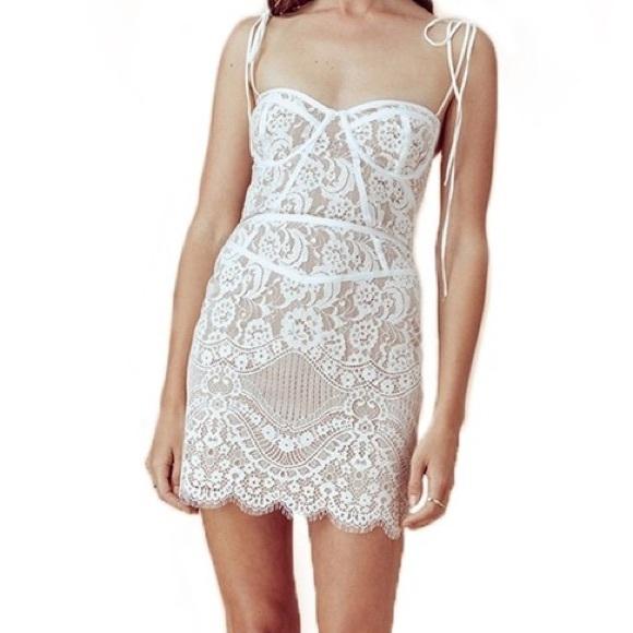 For Love Lemons Tati Lace Corset Dress Nwt